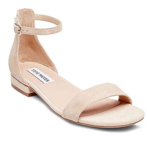 a0538fcce8d Steve Madden Lamp nude suede sandal. M 5b775234800deeee21d22e0d